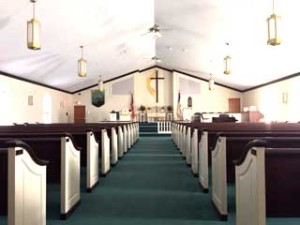 The Sanctuary of the United Methodist Church of Queensbury